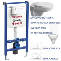 SET VODOKOTLIC FLUENTA +TIPKA ACTIVE ILI PLAY BELI+WC SOLJA BASIC SA SS DASKOM