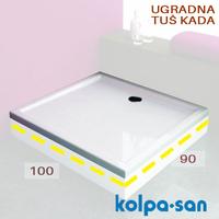 KOLPA SAN TUS KADA FLAMENCO 100X90  UGRADNA