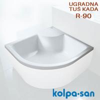 KOLPA SAN TUS KADA DIXIE R-90 UGRADNA dubina 30cm