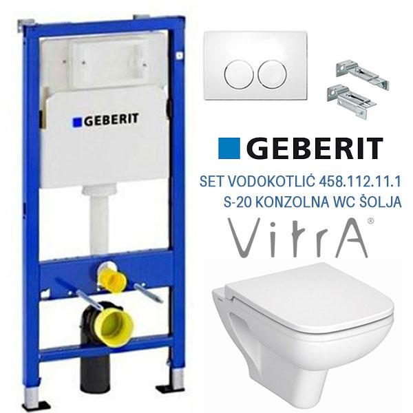SET 04 GEBERIT VODOKOTLIC 458.112.11.1+VITRA S-20 SOLJA+DASKA VITRA S-20