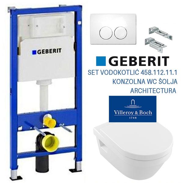 SET 08 GEBERIT VODOKOTLIC 458.112.11.1 + VILLEROY & BOCH ARCHITECTURA